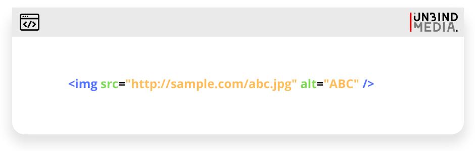 Alt text code sample
