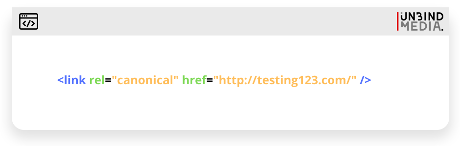 Canonical tag code sample