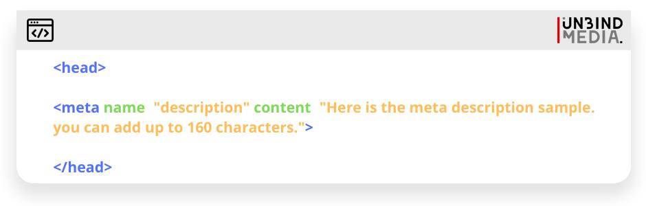 Meta description code sample
