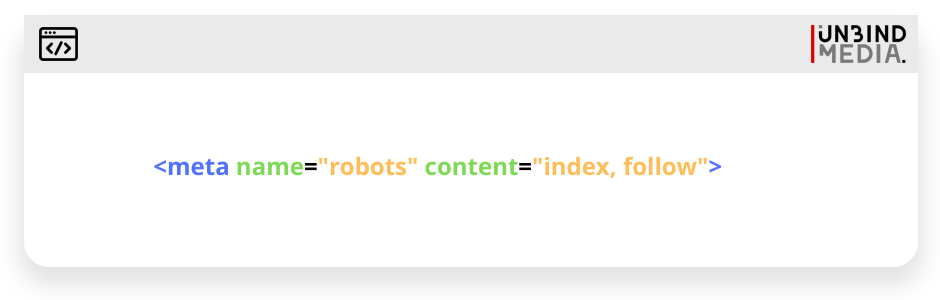 Index and follow code sample