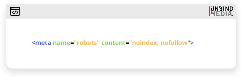 No-index or no-follow code sample