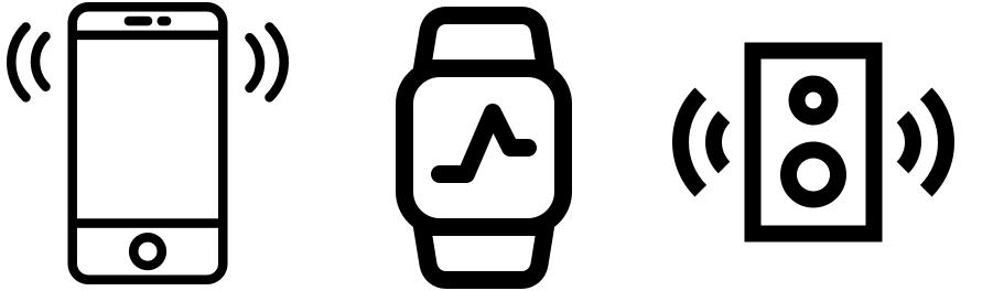 Smart-phone, Smart-watch, Smart-speaker